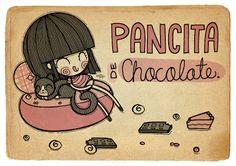 pancita de chocolate siiii comiendooo muchos chocolatesss