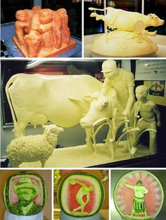What if food was used as a medium for art? Here are 32 incredible examples of creative food design, food sculpture, and edible art. Edible Food, Edible Art, Food Sculpture, Sculptures, Amazing Food Art, Creative Food Art, Seasonal Food, Fruit Art, Food Crafts
