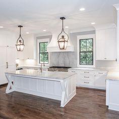 Our latest white kitchen! #chandelierdevelopment #whitekitchen #nashvilletn #naturallight
