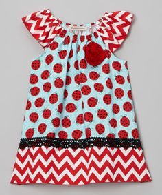 The perfect complement to any darling girl, this dress's classic silhouette and mix-and-match patterns are completely charming. Soft cotton construction keeps the frock ultra wearable, while sweet angel sleeves create a fluttery fit.