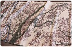 Natibaby Marsupial Mamas Exclusive: Cherry Tree (Linen Blend)