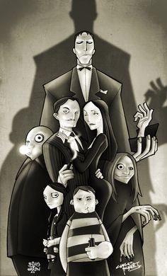 Adams family. Nice, graphic novel (comic book) style art!