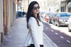 Spain fashion blogger somethingfashion valencia white tail jacket LBD