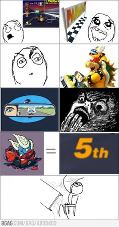 Every Mario kart player will know this feeling...