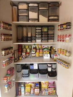 These organised pantries may inspire you to declutter your pantry and create some organised storage solutions.