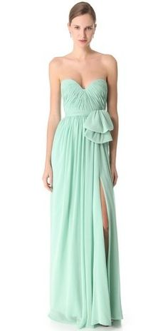Reem Acra Slit Chiffon Gown | Love yourself