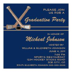 Invite guests in style with this custom tennis themed graduation