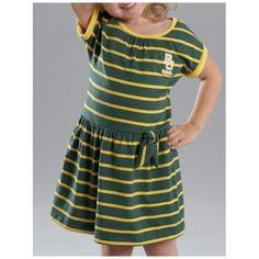 Perfect for the well-dressed #Baylor (little) girl! // BU Toddler Stripe Dress, from Baylor Bookstore