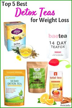 5 Best Detox Teas for Weight Loss - Weight Loss Tea - Te Detox, Detox Tea Diet, Detox Diet Drinks, Natural Detox Drinks, Smoothie Detox, Fat Burning Detox Drinks, Cleanse Detox, Stomach Cleanse, 14 Day Detox