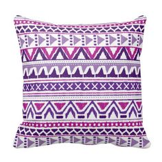 Purple And Violet Sketch Aztec Pattern