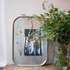 tableau pense b�te magnets zink d�coration int�reiure mint and lilies