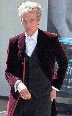 12th Doctor Who Coat of Peter Capaldi Maroon Color