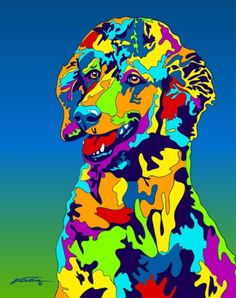 Multi-Color Poodle Dog Breed Matted Prints & Canvas Giclées