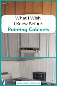 How to paint builder grade kitchen cabinets the right way to save time and money. - How to paint builder grade kitchen cabinets the right way to save time and money. This DIY project - Diy Kitchen Remodel, Diy Kitchen Cabinets, Kitchen Paint, Kitchen Redo, Kitchen Makeovers, Kitchen Counters, Kitchen Worktop, Kitchen Layout, Rustic Kitchen