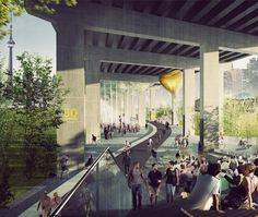 A massive initiative will see a new multipurpose public space built underneath the Gardiner Expressway.