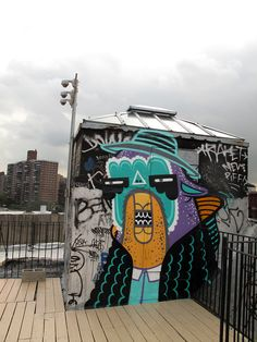 Abstracted characters graffiti by RekaOne