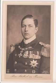 Prince Adalbert of Prussia in parade uniform of Imperial Navy w. lots of medals