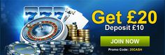 Use 20Cash #promocode and Get  £20 #williamhill #signupbonus for more information visit http://www.thebonuscasinos.co.uk/casino-news/97-william-hill-offering-20-sign-up-bonus.html