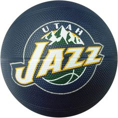 Spalding 65-556E Utah Jazz Mini NBA Team Rubber Basketball