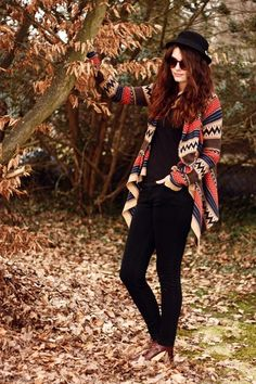 Aztec Cardigan & Black Skinny. This outfit is me in physical apparel. omg.