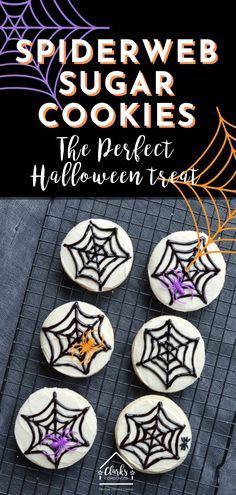 These Spiderweb Sugar Cookies are the PERFECT Halloween Treat. Super easy and kid-friendly. These Spiderweb Sugar Cookies are the PERFECT Halloween Treat. Super easy and kid-friendly. Trifle Desserts, Party Desserts, Dessert Bars, Dessert Recipes, Single Serve Desserts, Desserts For A Crowd, Delicious Desserts, Hot Fudge Cake, Hot Chocolate Fudge