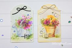 Little Crafty Pill: Faux freehand watercolor with Art Impressions stamps