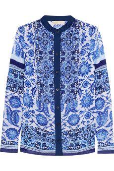 MICHAEL Michael Kors Printed georgette blouse   NET-A-PORTER