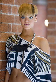 Rihanna Bowl Cut