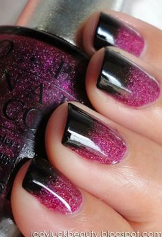 Black to pink gradient