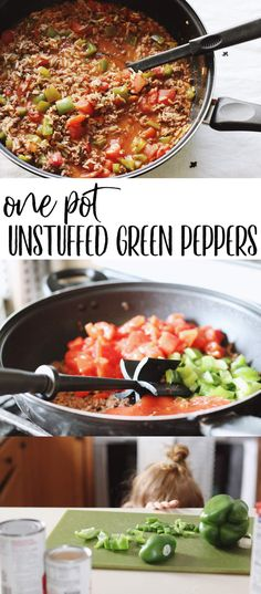 One Pot Unstuffed Green Pepper Recipe | Happily Trista Blog