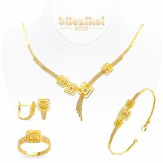 Taşlı 22 Ayar Altın Set Takımı 39,00 Gr. 22 ayar taşlı altın setler - Bilezikci Gold - Türkiye'nin Lider Kuyumcusu