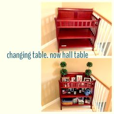 Changing table recycled, baby changing table repurpose, up cycle baby changing table