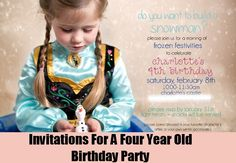 Invitations For A Four Year Old Birthday Party