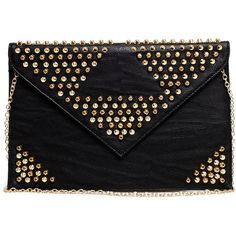 Studded Clutch found on Polyvore