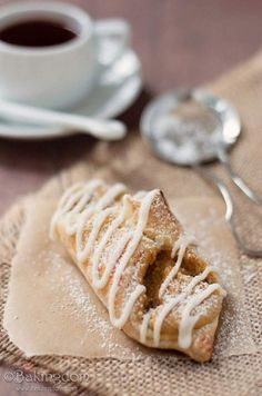 Pumpkin Cheesecake Pastry with Maple Glaze