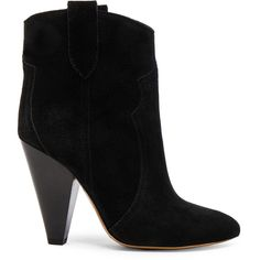 Isabel Marant Etoile Roxann Velvet Booties ($655) ❤ liked on Polyvore featuring shoes, boots, ankle booties, ankle boots, booties, high heel boots, distressed ankle boots, short boots and distressed boots