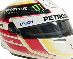 Mercedes-AMG Petronas Formula One Team Lewis Hamilton 1/2 Scale Mini Race Helmet 2015 Mercedes-AMG F1 Formula One Team The Lewis Hamilton 2015 ½ scale helmet has been manufactured in the highest quality and is based on the design of the Lewis Hamilton 2015 helmet. Please note there are sl (Barcode EAN = 5056047053399)…