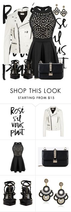 """Brutta giornata"" by pinkmode ❤ liked on Polyvore featuring Yves Saint Laurent and Valentino"