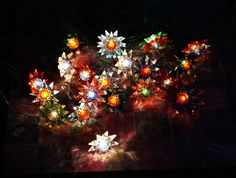20 Matchless Glass Stars Xmas Lights - Complete Set - Original ca. 1930 (# 3145)