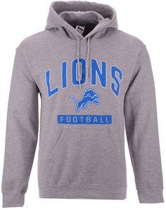 747ab175a Authentic Nfl Apparel Men s Detroit Lions Gym Class Hoodie - Gray S