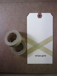 Gold striped washi tape $4