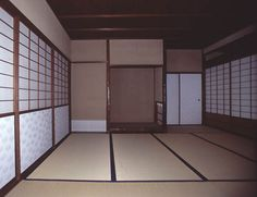 [Omote senke] tea room: Shichijo tea room.  [表千家不審菴]七畳:七畳敷