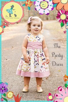 The Party Dress free pattern size 6 months-size 10
