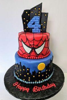 Birthday cake for men decoration spider man 17 best ideas - birthday Cake White Ideen Birthday Cakes For Men, Toddler Birthday Cakes, Novelty Birthday Cakes, Cake Birthday, Spiderman Torte, Spiderman Birthday Cake, Superhero Cake, Siper Man, Cartoon Cakes