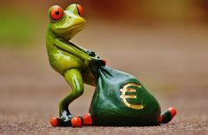 Free Image on Pixabay - Frog, Money, Euro, Bag, Money Bag Funny Frogs, Cute Frogs, Ways To Become Rich, Sapo Meme, Animal Reiki, Frog Pictures, Culture Art, Frog Art, E Book
