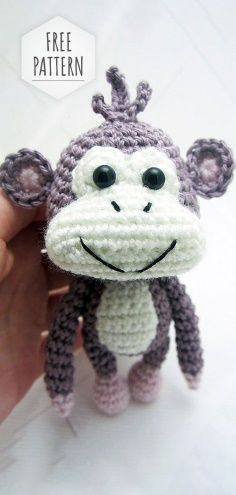 Free Crochet Monkey Pattern Amigurumi Monkey Free Pattern Free Crochet Monkey Pattern Heart Sew Cheeky Little Monkey Free Crochet Amigurumi Pattern. Crochet Monkey Hat, Crochet Monkey Pattern, Crochet Sock Monkeys, Crochet Socks, Crochet Patterns Amigurumi, Amigurumi Doll, Free Crochet, Amigurumi For Beginners, Crochet Projects