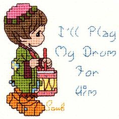 Precious MomentsTM        Free Chart - I'll Play My Drum For Him