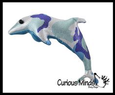 Dolphin Sand Filled Animal Toy - Heavy Weighted Sandbag Animal Plush B | Curious Minds Busy Bags Toss Game, Self Regulation, Bag Toss, Busy Bags, Sensory Toys, Plush Animals, Bean Bag, Sea Creatures, Calming