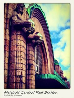 Beautiful architectural work of the Helsinki Central Rail Station in Finland