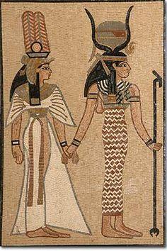 Art Egyptian goddesses mosaic, Déesses Egyptiennes mosaique, Proud ...